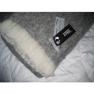 Alpaca Throw - GRANITE - Pure Alpaca and NZ-Made