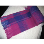 Alpaca Scarf - ROYAL FUSHIA CHECK